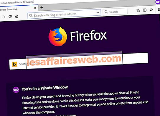 Starta alltid webbläsaren i privat surfläge som standard