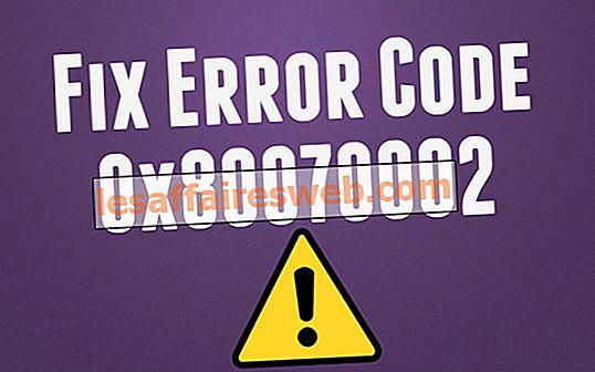 Betulkan Sistem tidak dapat mencari fail Ralat Kod dinyatakan 0x80070002