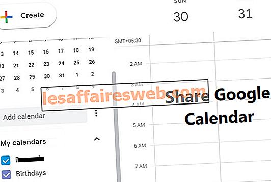 Kongsi Kalendar Google Anda Dengan Seseorang Lain