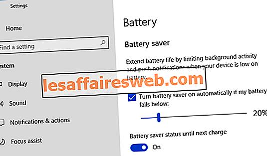 Aktivieren oder Deaktivieren des Batteriesparmodus in Windows 10