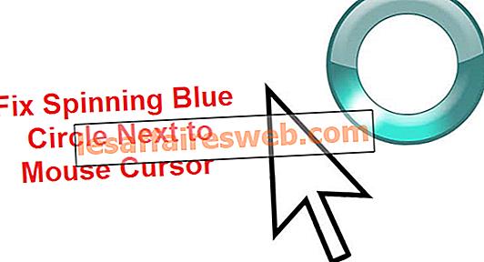 Correction du cercle bleu tournant à côté du curseur de la souris