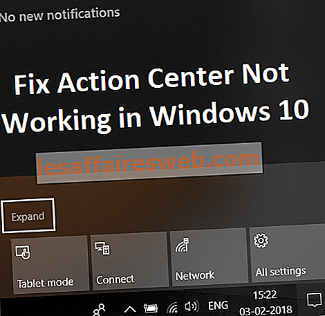 Action Center ne fonctionne pas dans Windows 10