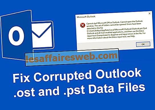 Comment réparer les fichiers de données Outlook corrompus .ost et .pst