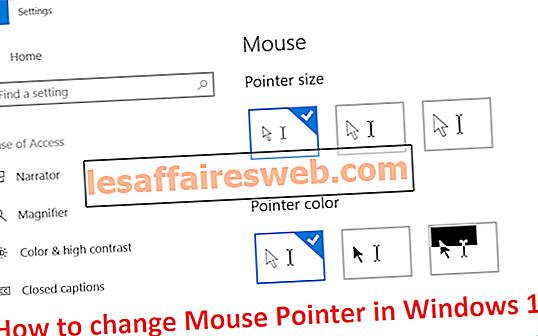 Comment changer le pointeur de la souris dans Windows 10