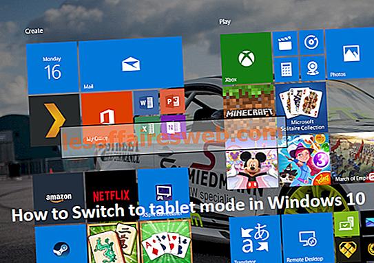 Cara Berpindah ke mode tablet di Windows 10