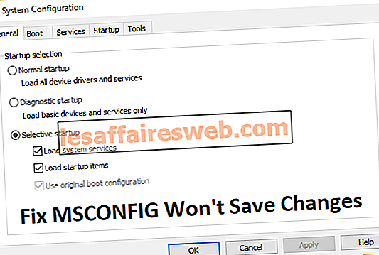 MSCONFIG가 Windows 10에서 변경 사항을 저장하지 않는 문제 수정