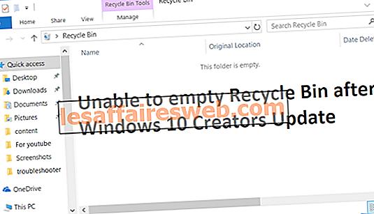Windows 10 Creators Updateの後でごみ箱を空にできない