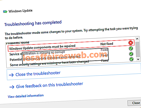 Windows Update-databasskadningsfel