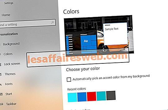 Changer la couleur du menu Démarrer, de la barre des tâches, du centre d'action et de la barre de titre dans Windows 10