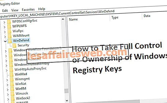 Cara Mengambil Kontrol Penuh atau Kepemilikan Windows Registry Keys