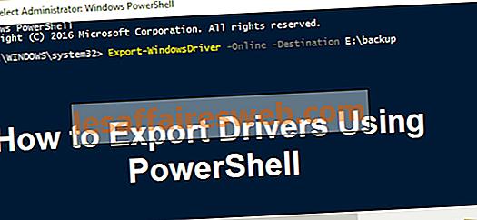 Cara Mengekspor Driver Menggunakan PowerShell