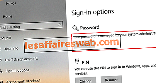 Comment empêcher les utilisateurs de changer de mot de passe dans Windows 10