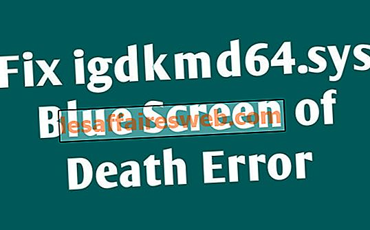 igdkmd64.sysの死のブルースクリーンエラーを修正