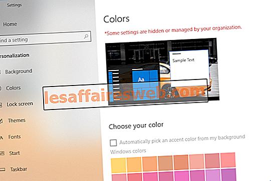 Impedisci di cambiare colore e aspetto in Windows 10