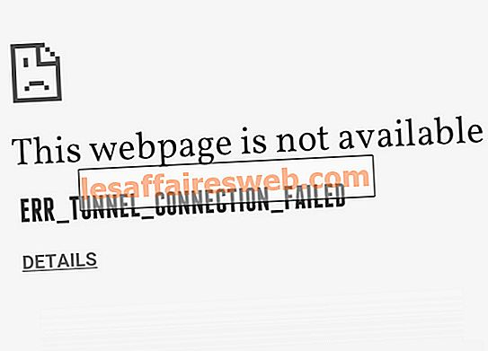 Perbaiki kesalahan ERR_TUNNEL_CONNECTION_FAILED di Google Chrome
