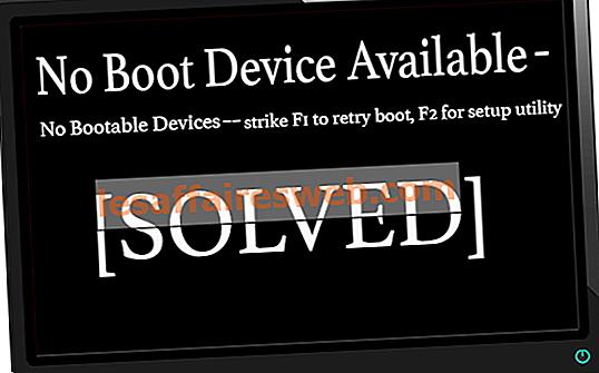 起動デバイスが利用できないというエラーを修正するWindows 10