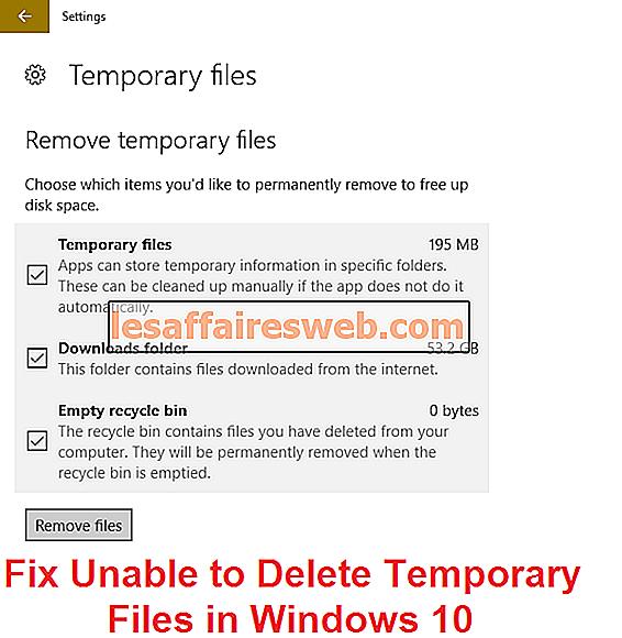 Fix Kan inte ta bort tillfälliga filer i Windows 10