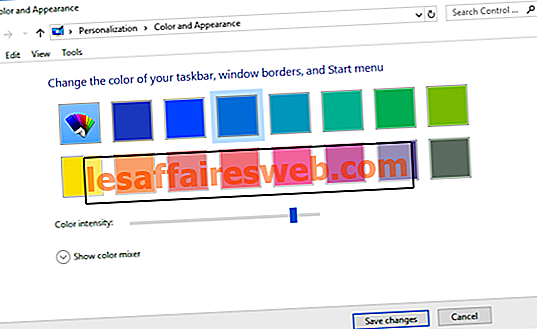 Windows 10で色と外観に簡単にアクセス