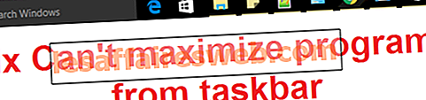 Perbaiki Tidak dapat memaksimalkan program dari taskbar