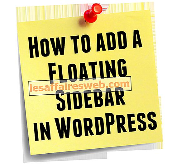 Cara Menambahkan Bilah Sisi Mengambang di WordPress