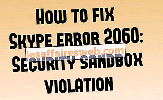 Cara memperbaiki kesalahan Skype 2060: Pelanggaran kotak pasir keamanan