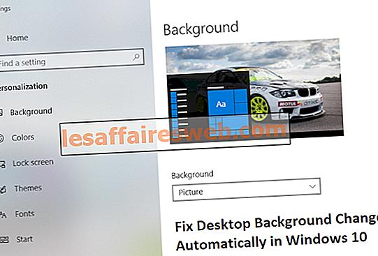 Correction automatique des modifications de l'arrière-plan du bureau dans Windows 10