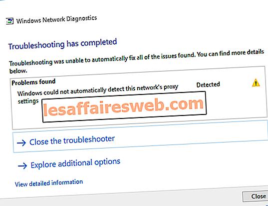 Perbaiki Windows tidak dapat secara otomatis mendeteksi pengaturan proxy jaringan ini