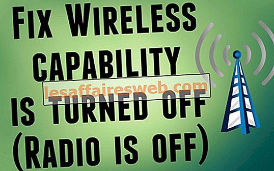 Cara memperbaiki kapabilitas Nirkabel dimatikan (Radio mati)