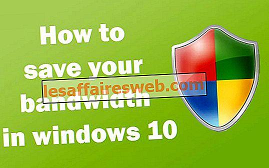 Windows 10에서 대역폭을 절약하는 방법