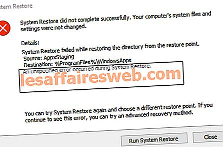 Correzione Ripristino configurazione di sistema non completata correttamente