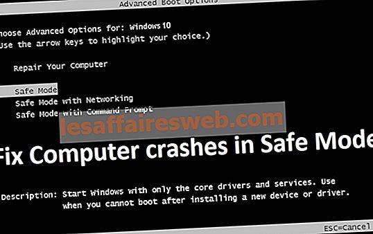 Risolvi i crash del computer in modalità provvisoria