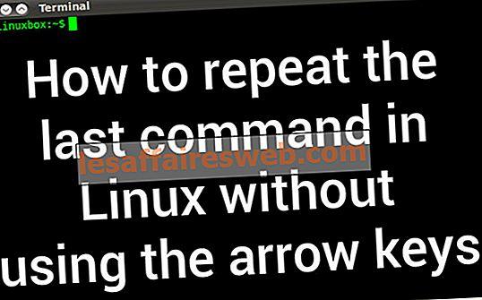 Comment répéter la dernière commande sous Linux sans utiliser les touches fléchées