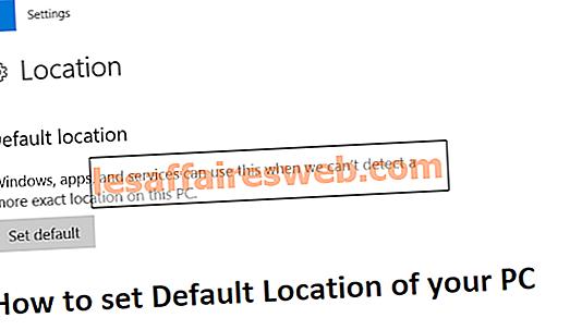 Cara mengatur Lokasi Default PC Anda