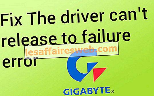 ドライバーは失敗エラーに解放できません