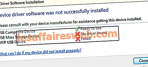 Behebung der Installation des MTP-USB-Gerätetreibers fehlgeschlagen