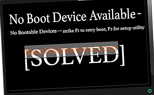 Fix No Boot Device Available Windows 10
