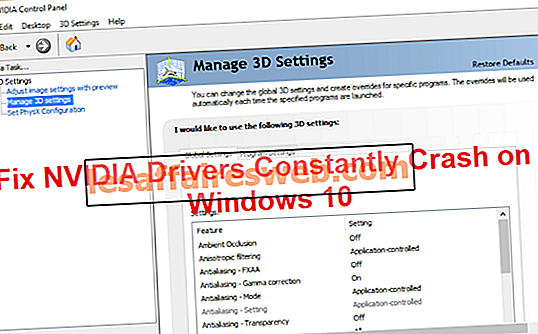 Fix NVIDIA-Treiber stürzen unter Windows 10 ständig ab