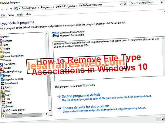 Как удалить ассоциации типов файлов в Windows 10