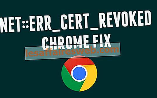 Cara memperbaiki sertifikat Server telah dicabut di chrome