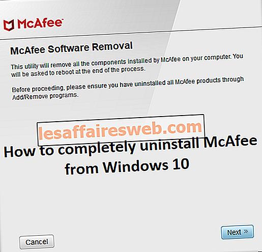 Windows 10에서 McAfee를 완전히 제거하는 방법