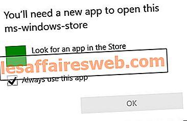 이 앱을 열려면 새로운 앱이 필요합니다 – ms-windows-store