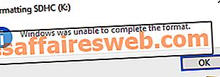 Windowsがフォーマットを完了できなかったのを修正