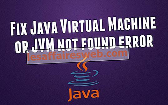 Исправить Java Virtual Machine или JVM не найдена ошибка
