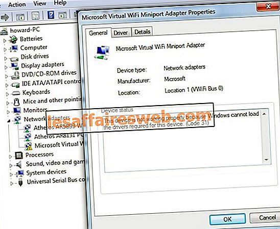 Microsoft Virtual Wifi Miniport Adapter Treiberproblem