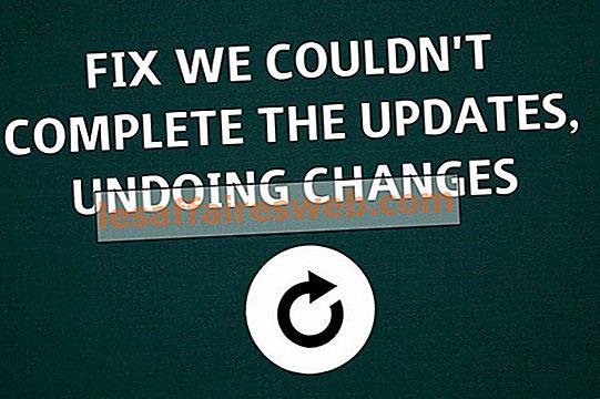 Kami tidak dapat menyelesaikan pembaruan, Membatalkan perubahan