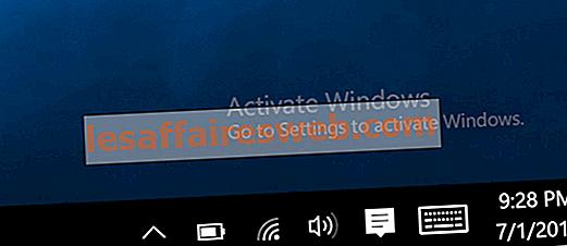 Windows 10에서 Windows 워터 마크 활성화 제거