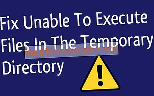 Impossible d'exécuter des fichiers dans le répertoire temporaire