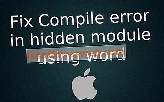 Correggi l'errore di compilazione nel modulo nascosto usando Word per Mac