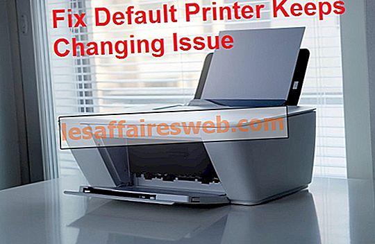 L'imprimante par défaut continue de changer