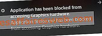 Fix Application wurde für den Zugriff auf Grafikhardware gesperrt